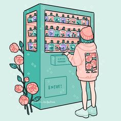 If these existed my wallet would be empty 😬 Q: what's your favorite boba flavor? My current favorite is Thai milk tea! Aesthetic Drawing, Aesthetic Art, Aesthetic Anime, Arte Do Kawaii, Kawaii Art, Character Art, Character Design, Japon Illustration, Cute Kawaii Drawings
