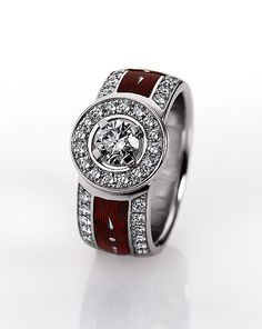 VICTOR MAYER diamond and enamel dress ring