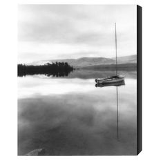 Ready-to-hang giclée canvas wall art with lake scene.   Product: Wall artConstruction Material: Artist grade canvas a...