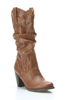 Summerio Tiffany Boots In Camel