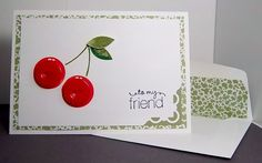 this card gave me a sewing idea....you could do this same button idea on a girl's spring/summer dress