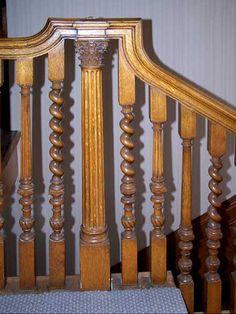 Alternating carved spindles