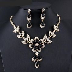 jiayijiaduo Hot African female costume Jewelry set for women Gold color Black Red Golde-color Necklace earrings set wedding(China) Costume Jewelry Sets, Women's Jewelry Sets, Wedding Jewelry Sets, Women Jewelry, Fashion Jewelry, Fine Jewelry, Jewelry Sites, Yoga Jewelry, Fashion Earrings