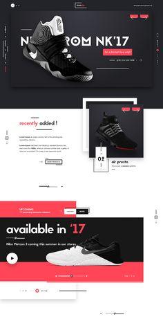 Mosquip sneaker website landing page design ui ux dribbble full 3