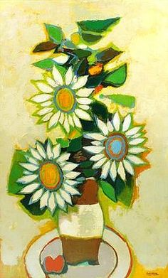 David Pryor Adickes Flowers in a Vase 1960-75