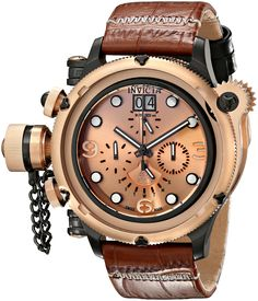 Invicta Men's 17331 Russian Diver Analog Display Swiss Quartz Brown Watch - name brand watches, women's watches online, oris watches *ad Amazing Watches, Beautiful Watches, Cool Watches, Women's Watches, Watches Online, Patek Philippe, Devon, Omega, Art Watch