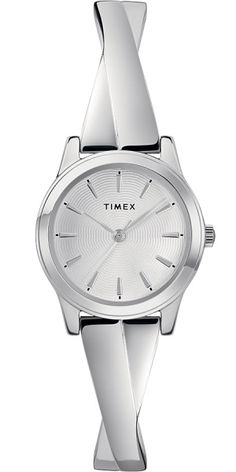 e8711553e Timex Crisscross TW2R987009J Women's Stretch Bangle Expandable Watch