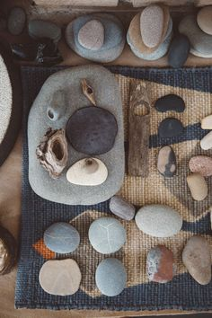 stone collection of artist amy dov. / sfgirlbybay
