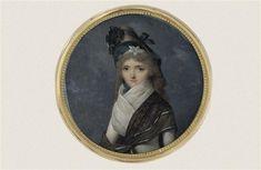 Portrait de jeune femme en costume Directoire Isabey Jean-Baptiste (1767-1855)