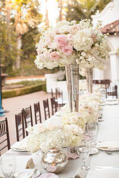 head table (tall arrangement)