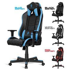 chaise bureau gamer en noir et blanc Chaise Pinterest