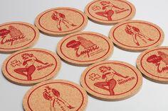 Branding and coaster / beer mat design for Tenderloin Museum by graphic design studio Mucho