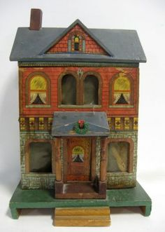 Bliss Doll House Paper On Wood 1880's. Good Overall, Wi