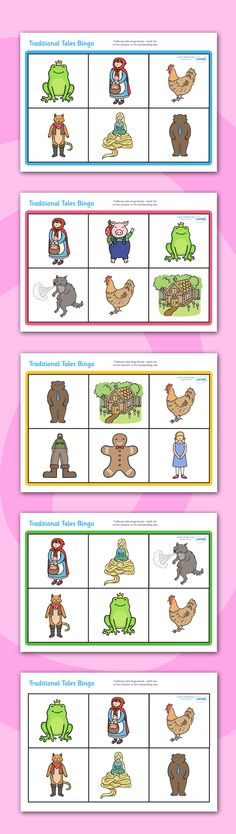 Twinkl Resources >> Traditional Tales Bingo >> Printable resources for Primary, EYFS, KS1 and SEN.  Thousands of classroom displays and teaching aids! Topics, Traditional Tales, Games, Bingo
