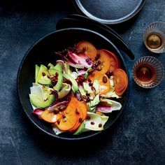 Food and Wine - Persimmon-and-Endive Salad with Honey Vinegar and Avocado Oil Vinaigrette