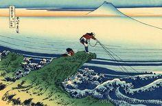 Kajikazawa dans la province de Kai - Kajikawaza in Kai Province, 1830 Woodblock Katsushika Hokusai (1760-1849)