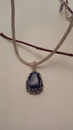 Items similar to Stunning wire wrapped Lapis Lazuli on a handmade Viking Knit chain on Etsy Viking Knit, Lapis Lazuli, Wire Wrapping, Eye Candy, Handmade Jewelry, Lovers, Pendant Necklace, Chain, Beads