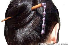 How to Make Pearled Hair Sticks