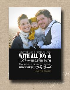 romans 15 christmas photo card - Christmas Card Scripture