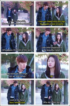 """Lee Min Ho and Park Shin Hye ♡ #Kdrama - """"HEIRS"""" / """"THE INHERITORS"""" """"this is so cute."""
