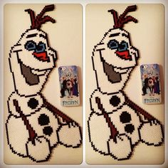 Olaf - Frozen hama perler beads by cili
