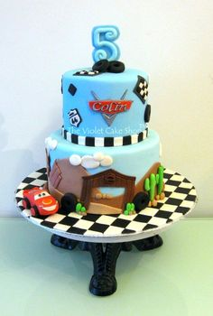 Disney Cars Cake for My Son's 5th - by thevioletcakeshop @ CakesDecor.com - cake decorating website