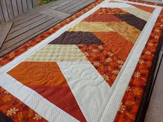 Quilt Quilting Pattern Autumn Splendor Wall Hanging Twin