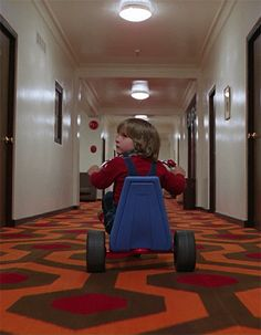 Danny Lloyd in The Shining (1980). Oh so scary!
