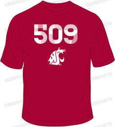 The 5-0-9!!! The Washington State University Cougars Area Code Tee is a great way to show your Palouse pride! It features the 509 area code for Eastern Washington with a WSU logo below the numbers. It is 100% cotton and the graphics are printed on the front.