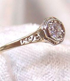 Vintage Art Deco   https://www.etsy.com/listing/189820498/vintage-art-deco-diamond-ring-in-14k