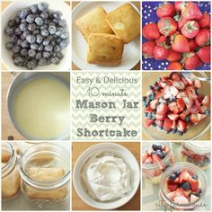 Easy & Delicious 10 Minute Mason Jar Berry Shortcake -City Farmhouse