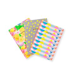 These colourful patterned notebooks by Oliver Bonas would brighten up any desk. Perfect for those wanting a bit of sunshine in their live on a gloomy day! Desk Essentials, Oliver Bonas, Gloomy Day, Study Space, Stationery Design, Scribble, Personalized Gifts, Latest Fashion, Arts And Crafts