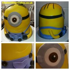 My first attempt at a Minion cake...went down well in my office :)