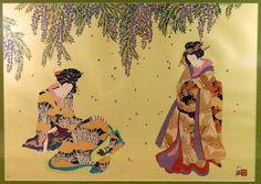 Sisters of the Floating World, Hisashi Otsuka, Mixed media