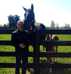 Zenyatta, Mike Smith, and her foal