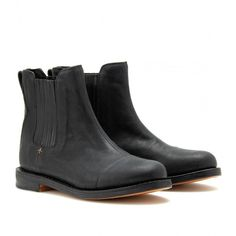 Rag & Bone Somerset Leather Chelsea Boots ($797) ❤ liked on Polyvore featuring shoes, boots, ankle booties, footwear, black, black booties, leather ankle booties, chelsea boots, black chelsea boots and leather booties