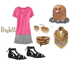 Diglett (Pokemon) Inspired Outfit