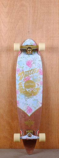 """The Dusters Prebuilt 38"""" Roses Longboard is designed for carving and cruising."""