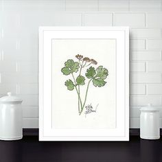 Kitchen Watercolor Art - Herb Print - Kitchen Wall Art - Downloadable Art - Food Art Print – Kitchen Wall décor – Wall Art - Home Decor by GoldfishWatercolorNY on Etsy