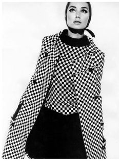 Sixties Fashion, Mod Fashion, Vintage Fashion, Purple Fashion, Classic Fashion, Gothic Fashion, Monochrome Fashion, Black And White Design, Black White