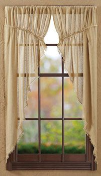 Tobacco Cloth Khaki Prairie Curtain