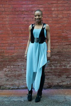 Luxirare Minivest, Cheap Monday Dress, Aldo Booties, Joe Jean Leggings
