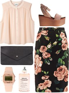 """lovely pink"" by rosiee22 ❤ liked on Polyvore"