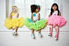 pettiskirts! like wearing cotton candy. via DreamSpunKids on etsy #pettiskirt #little girlhood