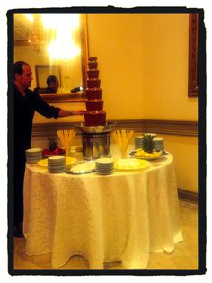 Chocolate Fountain for Wedding @ Capitol Banquet Hall Chocolate Fountains, Melting Chocolate, Banquet, Special Occasion, How To Memorize Things, Desserts, Wedding, Food, Melt Chocolate