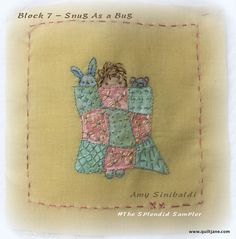 Amy Sinibaldi – NanaCompany has created the cutest stitchery. Download the 7th Splendid Sampler block, Snug as a Bug, here. I have used folk art paints mixed with a textile medium and painted…