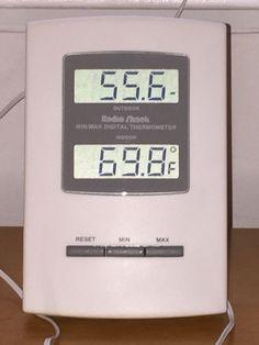 RadioShack CORDED Indoor/Outdoor Thermometer Dual Display Temperature TESTED #RadioShack