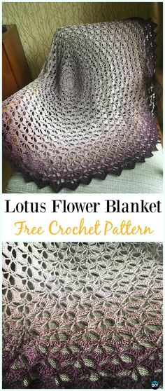 Crochet Lotus Flower Blanket Free Pattern - #Crochet; Flower #Blanket; Free Patterns