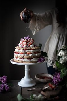 Giant Lilac-scented Strawberry Shortcake - The Kitchen McCabe