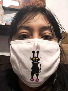 Thank you to Daysha Jaime-Soto for sharing her mask creation with me, I love it! Cat Hanging With Claws Funny Pet Cat SVG Cut File She Mask, Svg Cuts, Claws, Cutting Files, Funny Animals, Photo And Video, Pets, Funny Animal, Silhouette Projects